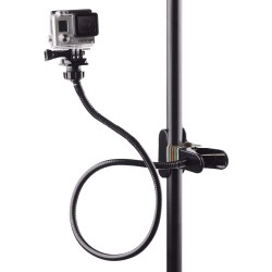 Clamp clip mount - selfie stick - adjustable - flexible extension - for GoPro Hero 9/8/7/6/5/4/2/Session DJI OSMO Action Xiaomi