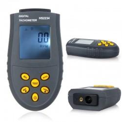 Digitaler Lasertachometer - LCD / Drehzahltest - berührungslos - HS2234