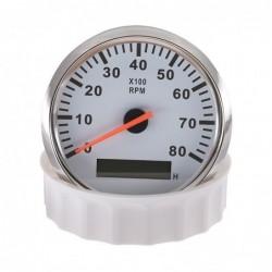 Drehzahlmesser für Boote / Autos - Geschwindigkeitsmesser - LCD - 12V/24V - 8000 RPM - 52mm / 85mm