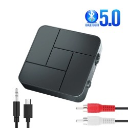 Audio receiver - transmitter - Bluetooth - 3.5mm AUX jack - RCA - USB - wireless adapter with mic