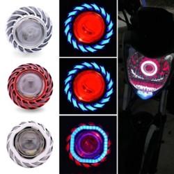Motorcycle headlight - LED projector - single light - angel / devil eyes - for Suzuki