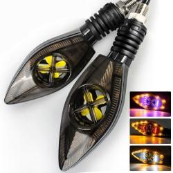 Motorrad Blinker / Signalleuchten - superhell - LED / DRL 12V - 2 Stück