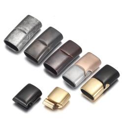Hebilla magnética - cierre - para pulseras de cordón de cuero - acero inoxidable - bricolaje - 2 piezas