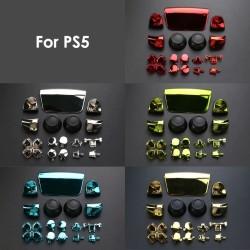 Full Set Chrome Buttons For Playstation 5 Handle Thumb Sticks Joystick Cap L1 R1 L2 R2 D-pad Button For PS5 Controller