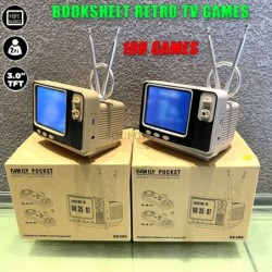 GV300 - retro TV game - video game console - with 2 wireless controllers - built-in 108 games