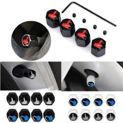 Autoreifenventile - Anti-Diebstahl-Kappen - mit Schraubenschlüssel - Zinklegierung - Mittelfinger-Stil