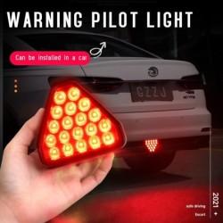 Car warning light - triangle - LED - brake / rear fog light - 12V