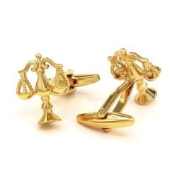 Elegante goldene Manschettenknöpfe - Waage der Gerechtigkeit