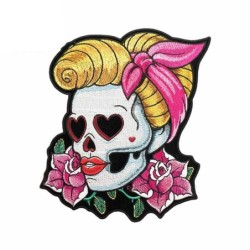 Car / motorcycle sticker - waterproof - skull girl