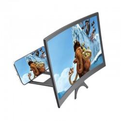 """12 """"- Proyector HD - Ampliación de la pantalla del teléfono - Cristal curvo - Ajustable"""