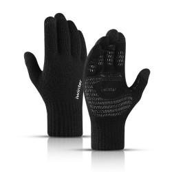 Warm winter elastic gloves - hat - balaclava - touch screen fingertips - non-slip - unisex
