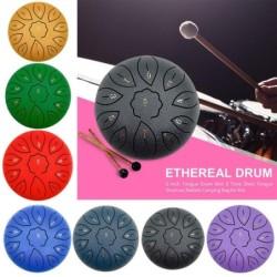 Steel tongue drum - drum sticks - finger cots - 11 tune notes - set