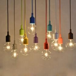 E27 - ceiling lamp holder - socket - silicone rope - 90cm