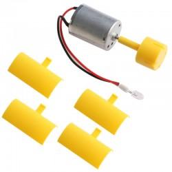 Micro moteur à courant continu - LED - axe vertical - pales d'éolienne