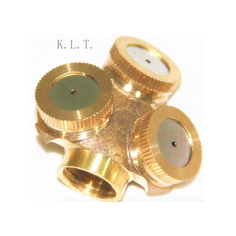 3 Holes 1.5 Sprayer Adjustable Brass Spray Misting Nozzle Agricultural Gardening Irrigation Sprinkler