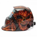 Auto Darkening Welding Helmet On Fire Skull