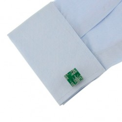 Green Square Copper Cufflinks