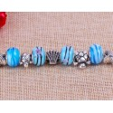 Blue Crystal Rhinestone Bracelet Turtle Starfish Beads