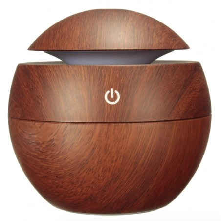 Aromatherapy Wooden Grain Ultrasonic USB LED Mist Humidifier*