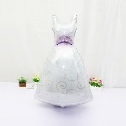 2pcs 57*118cm Groom Bride Wedding Dress Foil Balloon Marriage Decoration