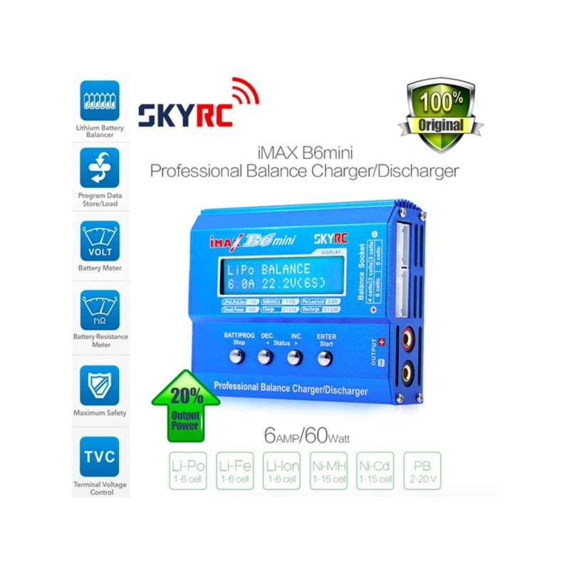 SKYRC Imax B6 Mini 60W Batterij Balans Oplader Ontlader