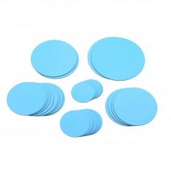 Polka dot - round mirrors - wall sticker - 30 pieces set