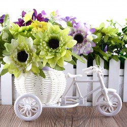 White bike design - flower basket - container