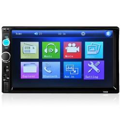 Autoradio Bluetooth - DIN 2 - Écran tactile LCD 7'' pouces - Lecteur MP3-MP5 - USB - MirrorLink