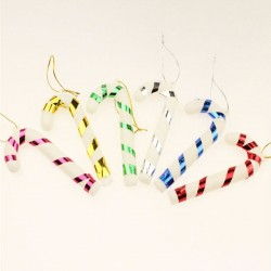 Christmas Tree Decoration Small Santa Candy Cane 6pcs