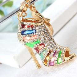 Zapato de salón de cristal de tacón alto - llavero
