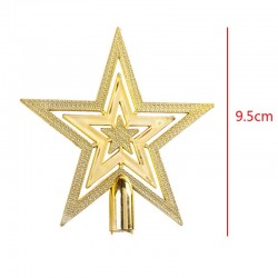 Golden Glitter Treetop Christmas Tree Star 9.5cm