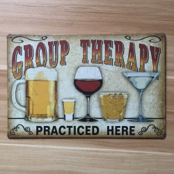 Vintage Metal Signs Wall Sticker