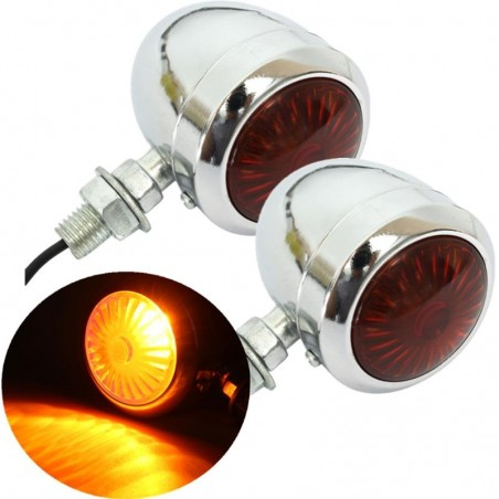 12V Motorcycle Motorbike Turning Signal Indicator Lights 2pc