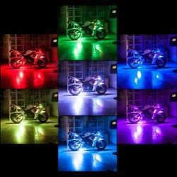 Motorcycle Car Van Bike ATV 8 Strip RGB LED Neon Light Kit Incl. Remote
