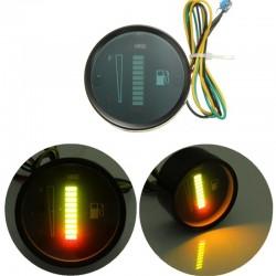 10 LED 12V - capteur de niveau de carburant moto / voiture - alliage d'aluminium