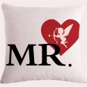 Mr. And Mrs. Right Lip Pillowcase Cushion Cover 45 * 45cm