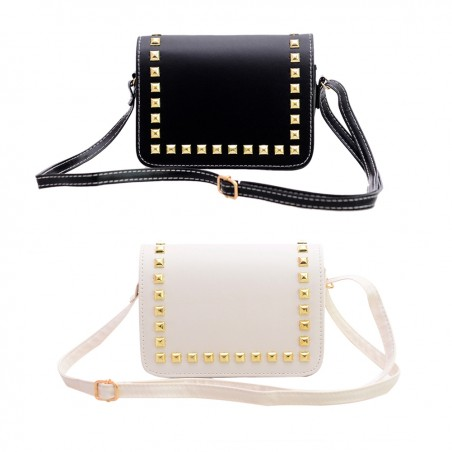 PU Leather Rivet Crossbody Women's Bag