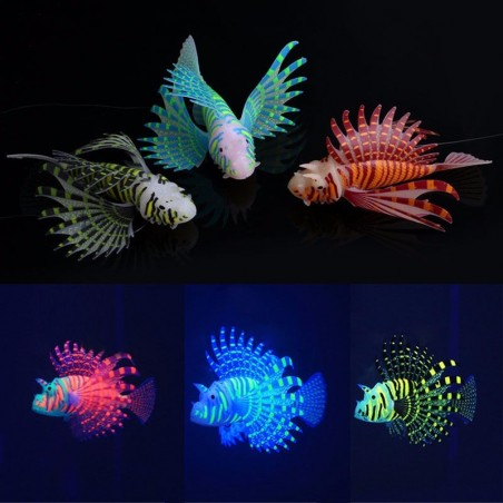 4 Colours Silica Color Luminous Lionfish Artificial Fish Aquarium Tank Decoration
