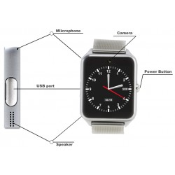 GT08 Plus Metal Bluetooth SIM Card Smartwatch