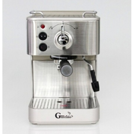 Gustino 19Bar Stainless Steel Semi Automatic Coffee Maker With Froth Milk