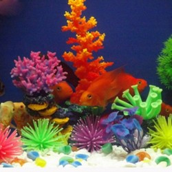 Silicone Aquarium Fish Tank Artificial Coral Plant