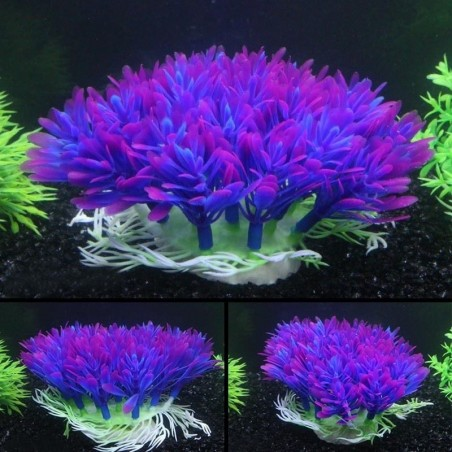 Aquarium Fish Tank Plastic Artificial Water Green Grass Plant