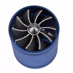 Turbo Air Intake Turbine Gas Fuel Saver Fan Supercharger Universal Turbine