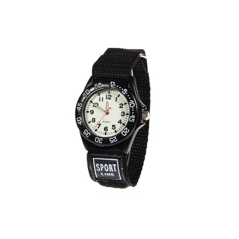 Military Kids Quartz Watch Fabric Strap Waterproof