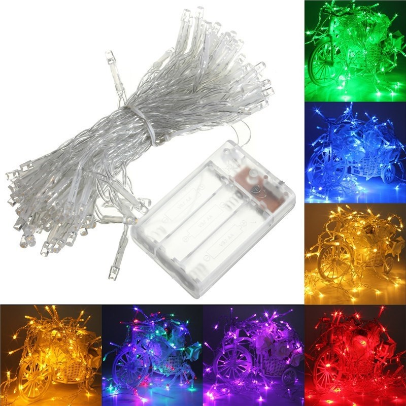 4M 40 LED Battery Operated LED String Xmas Lights