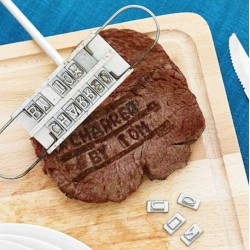 BBQ meat name branding iron with with changeable letters