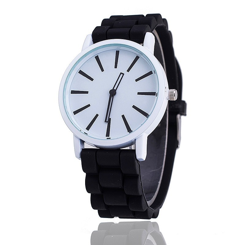 Montre quartz de silicone casual