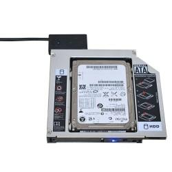 Box universel pour optical bay d'aluminium SATA HDD Caddy 12.7mm