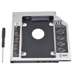 Uniwersalne aluminiowe SATA HDD Caddy 12.7mm obudowa