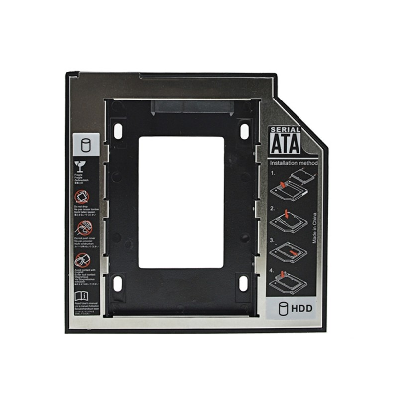 Inserciòn hard drive universal 9.5mm SATA Caddy SSD HDD 3.0 2.5""
